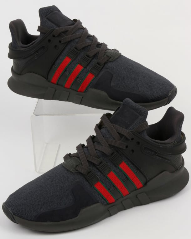 Adidas EQT Support ADV Trainers Black/Scarlet/Green