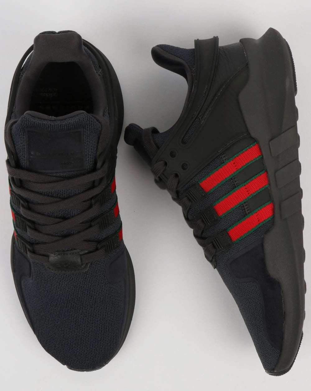 separation shoes 11332 edc1c Adidas EQT Support ADV Trainers Black/Scarlet/Green
