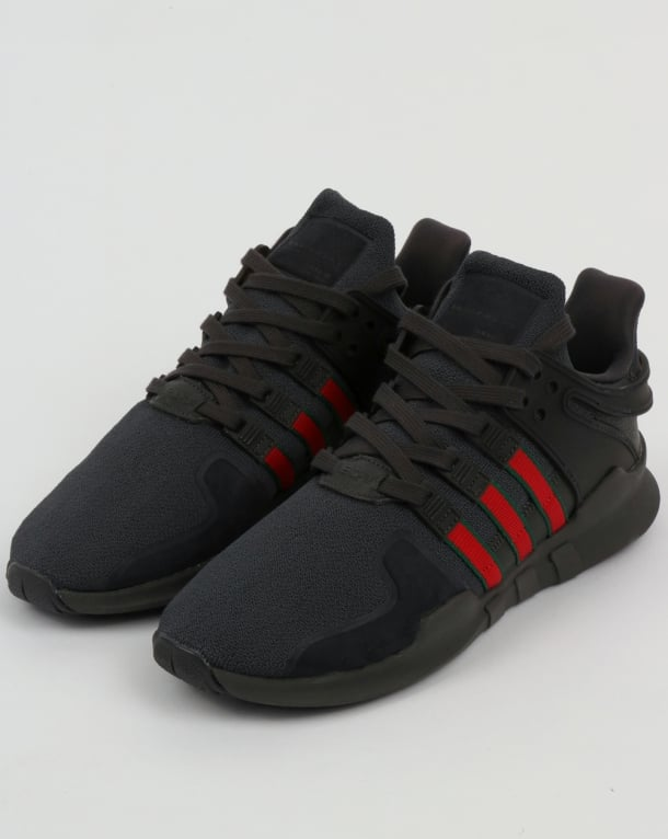separation shoes 7a5c2 ba507 Adidas EQT Support ADV Trainers Black/Scarlet/Green