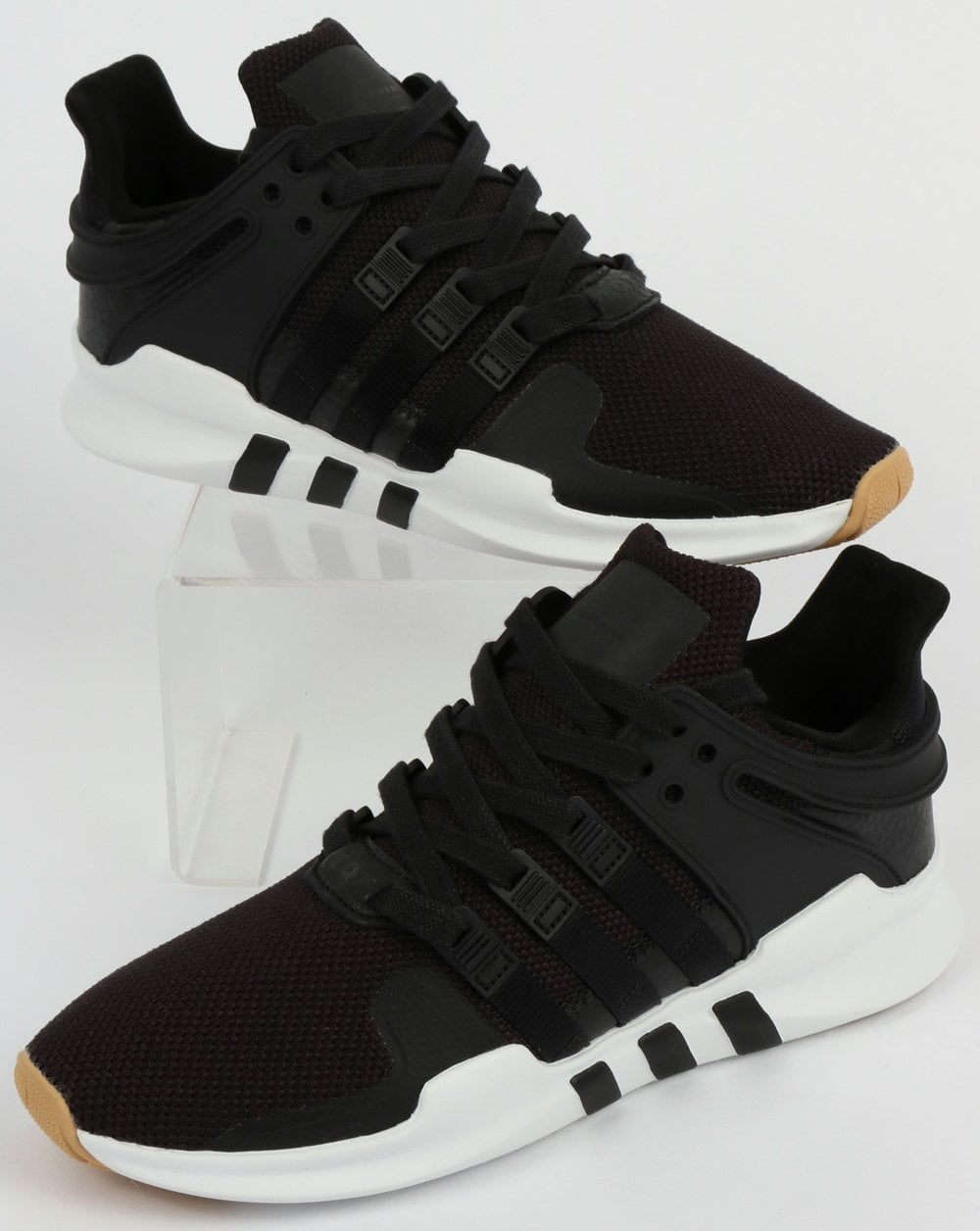 half off 4fbe7 7800e Adidas EQT Support Adv Trainers Black/White/Gum
