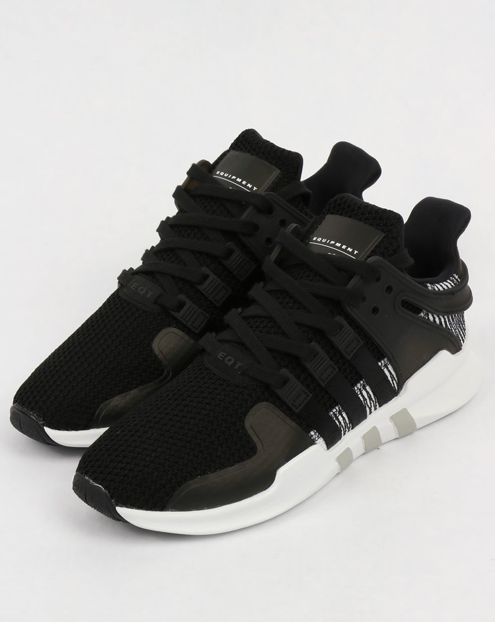 sneakers for cheap 412c6 dedd7 Adidas EQT Support Adv Trainers Black White
