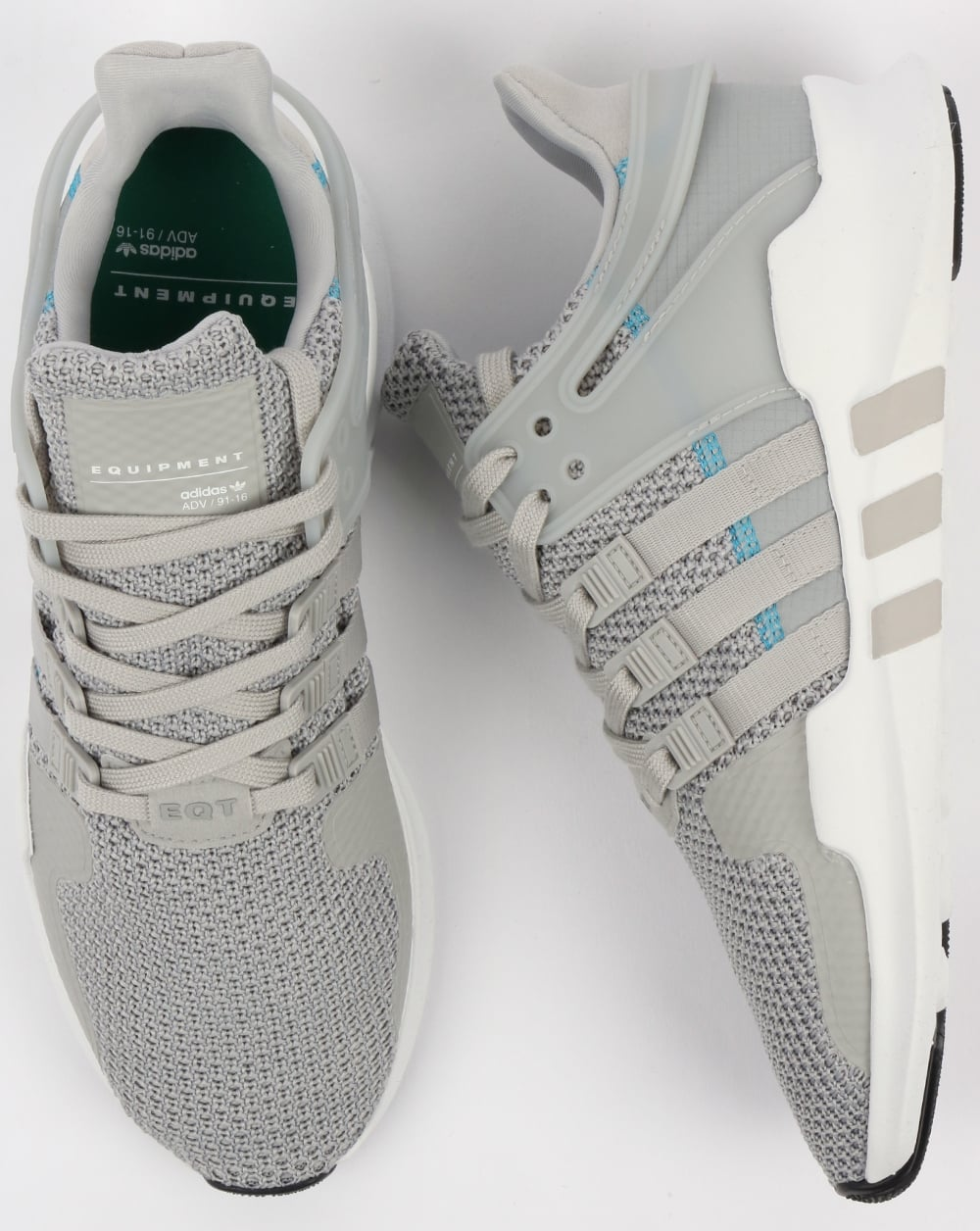 differently d5f29 ea36c Adidas EQT Support ADV Trainers Grey 2/White