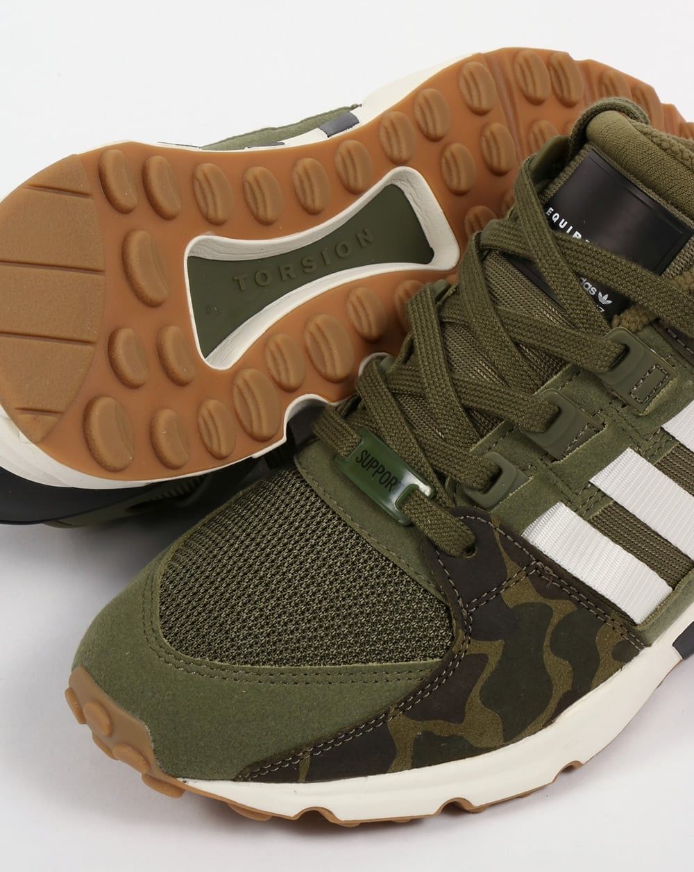 huge selection of d1577 0fae0 Adidas EQT Support RF Trainers Olive Cargo/White