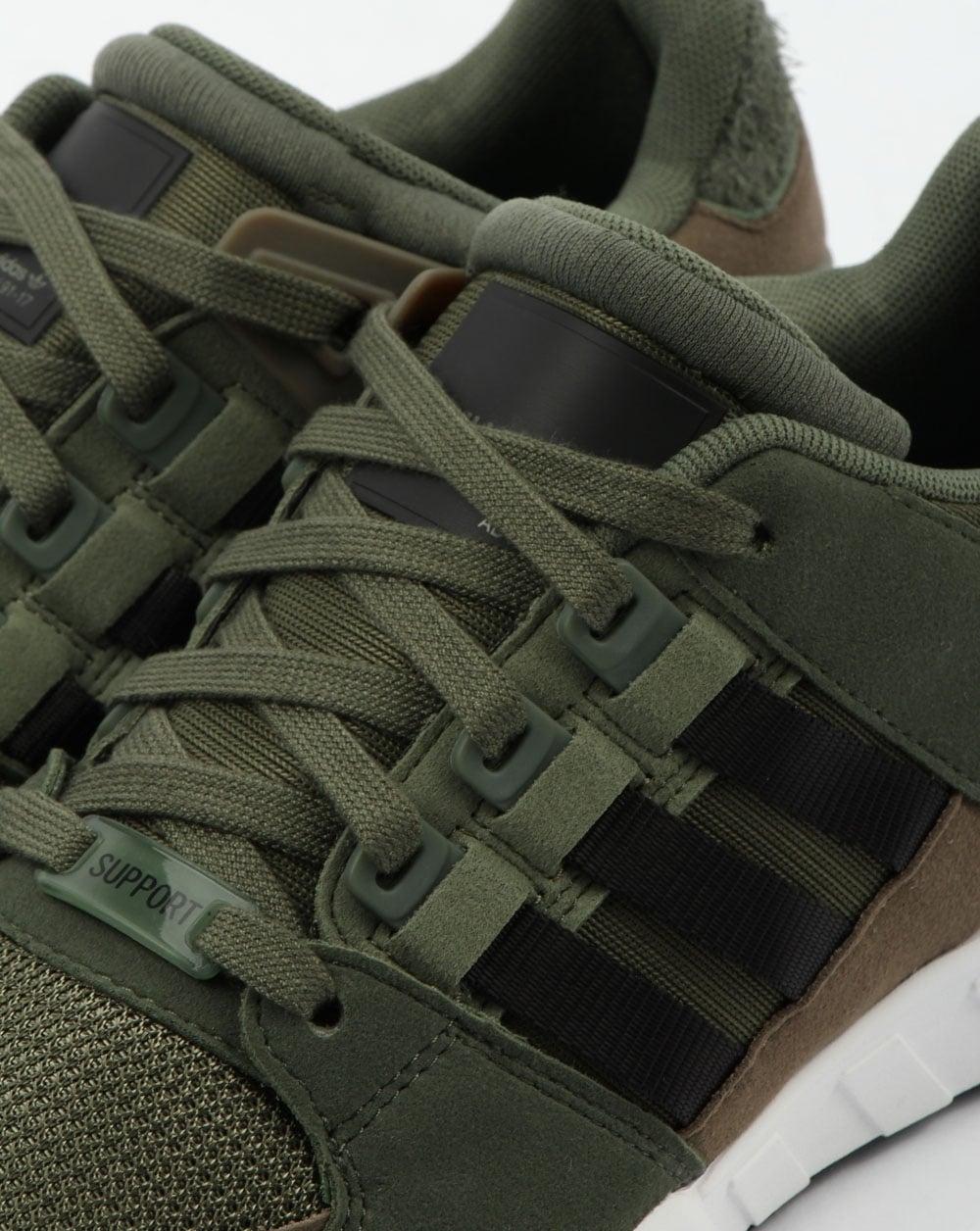 adidas khaki eqt support rf trainers