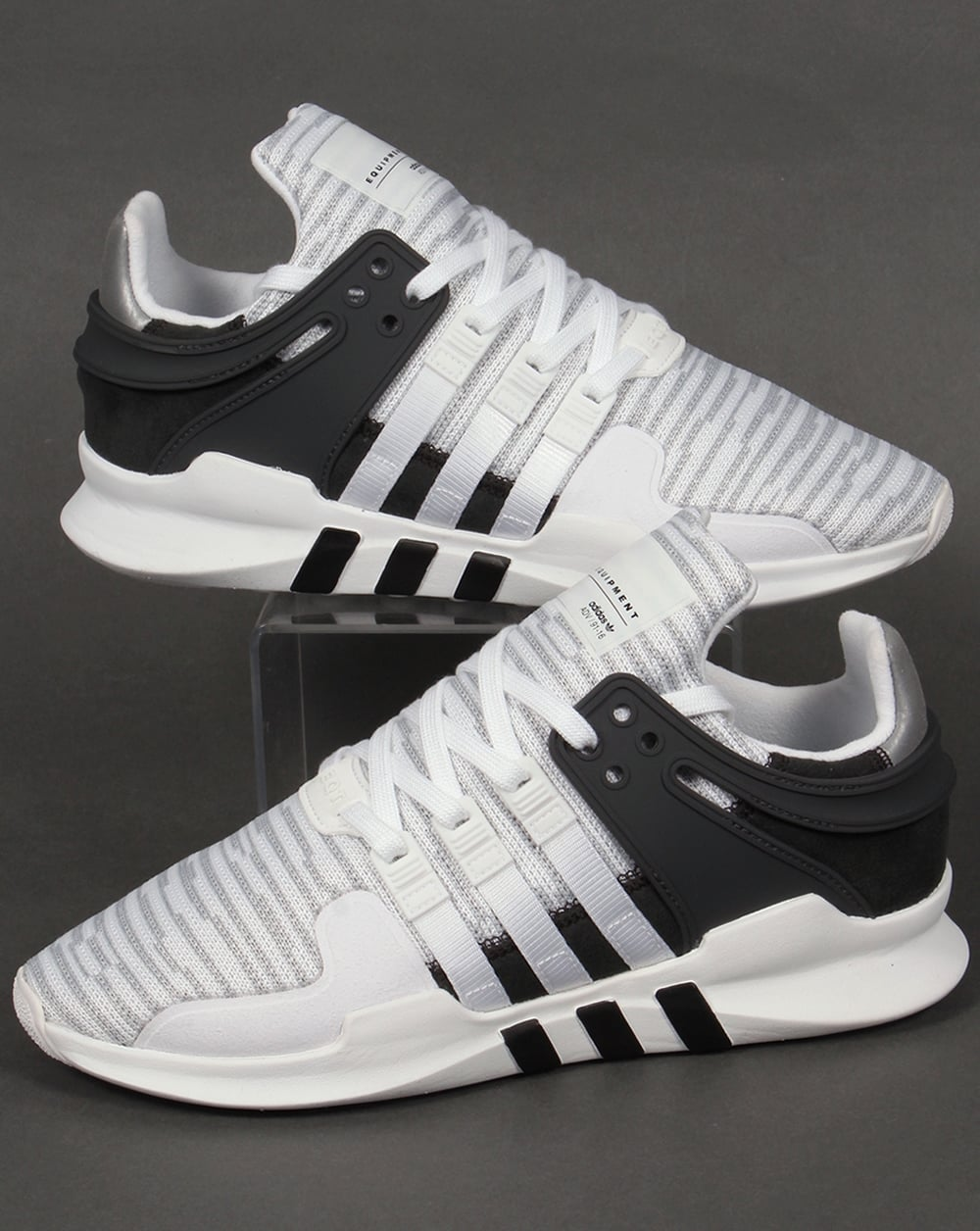 mens adidas black eqt support adv trainers