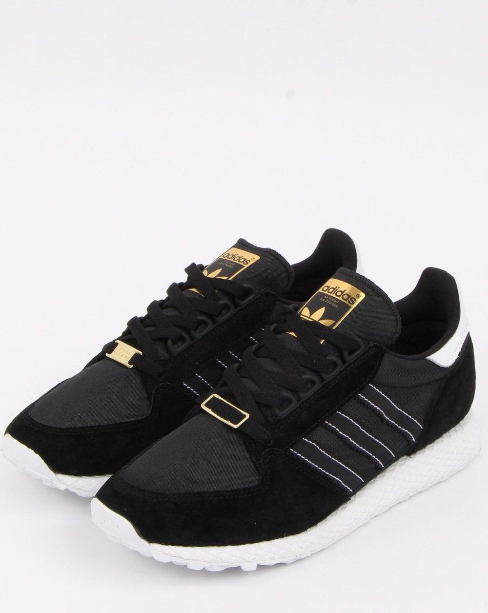Influencia Preocupado collar  Adidas Forest Grove Trainers Black/Gold - 80s Casual Classics