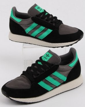 adidas Trainers Adidas Forest Grove Trainers Black/Green/grey