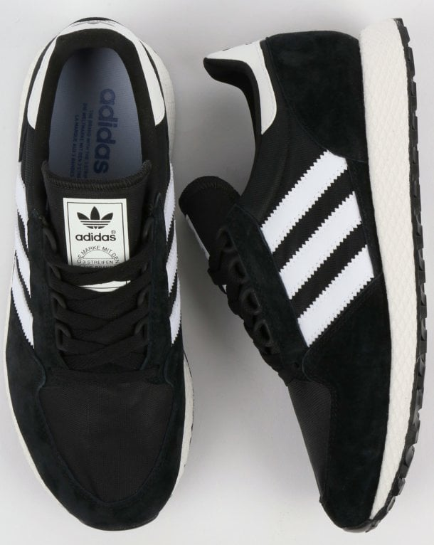 adidas Trainers Adidas Forest Grove Trainers Black White 4f5c5e0b3