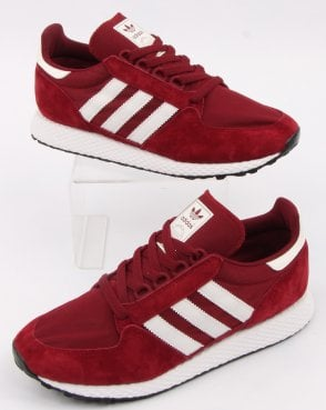 adidas Trainers Adidas Forest Grove Trainers Burgundy/cloud White