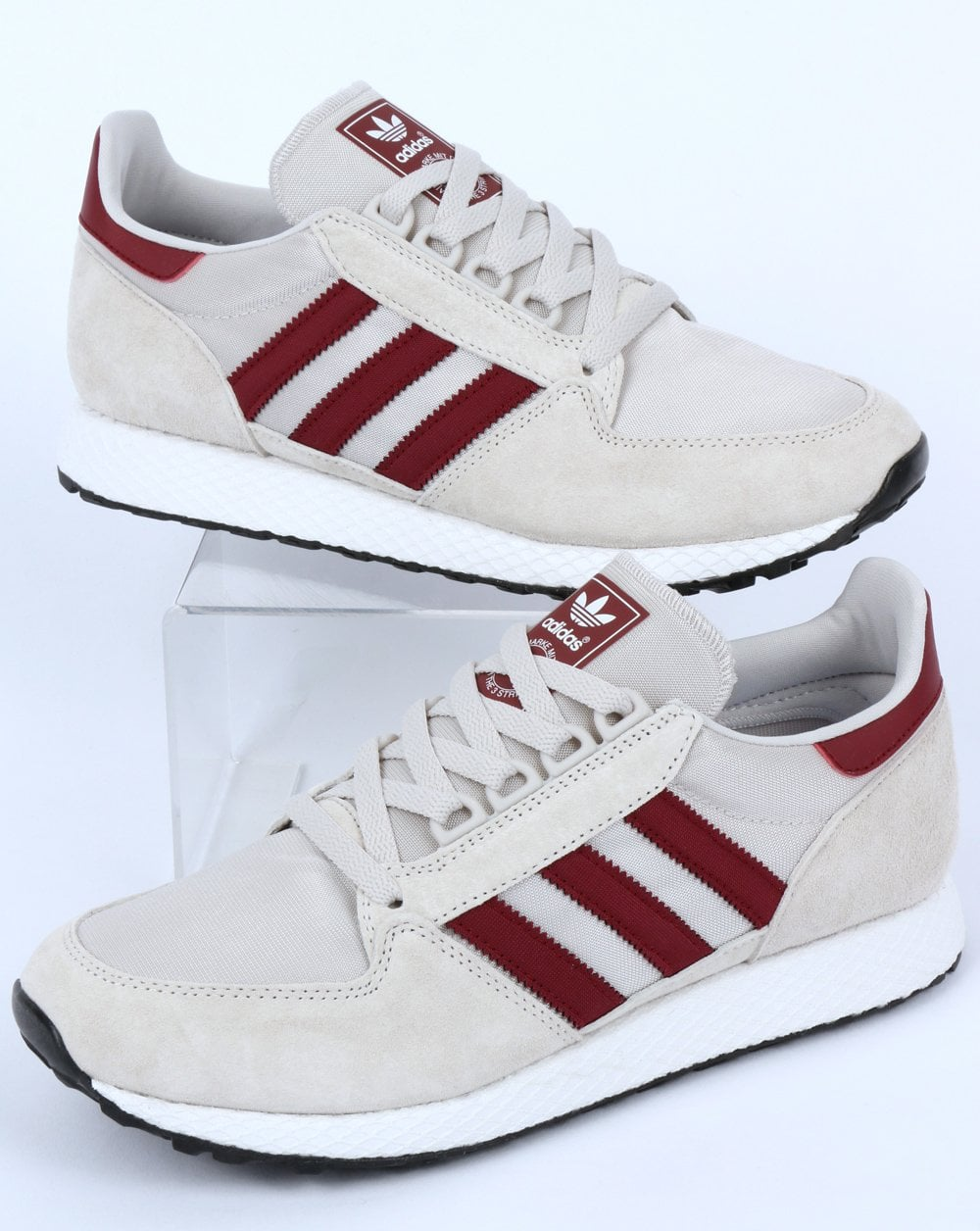 adidas Trainers Adidas Forest Grove Trainers Chalk White Burgundy 7f2360834