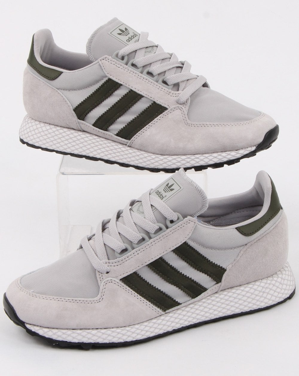 Adidas Forest Grove Mens Suede Trainers Grey