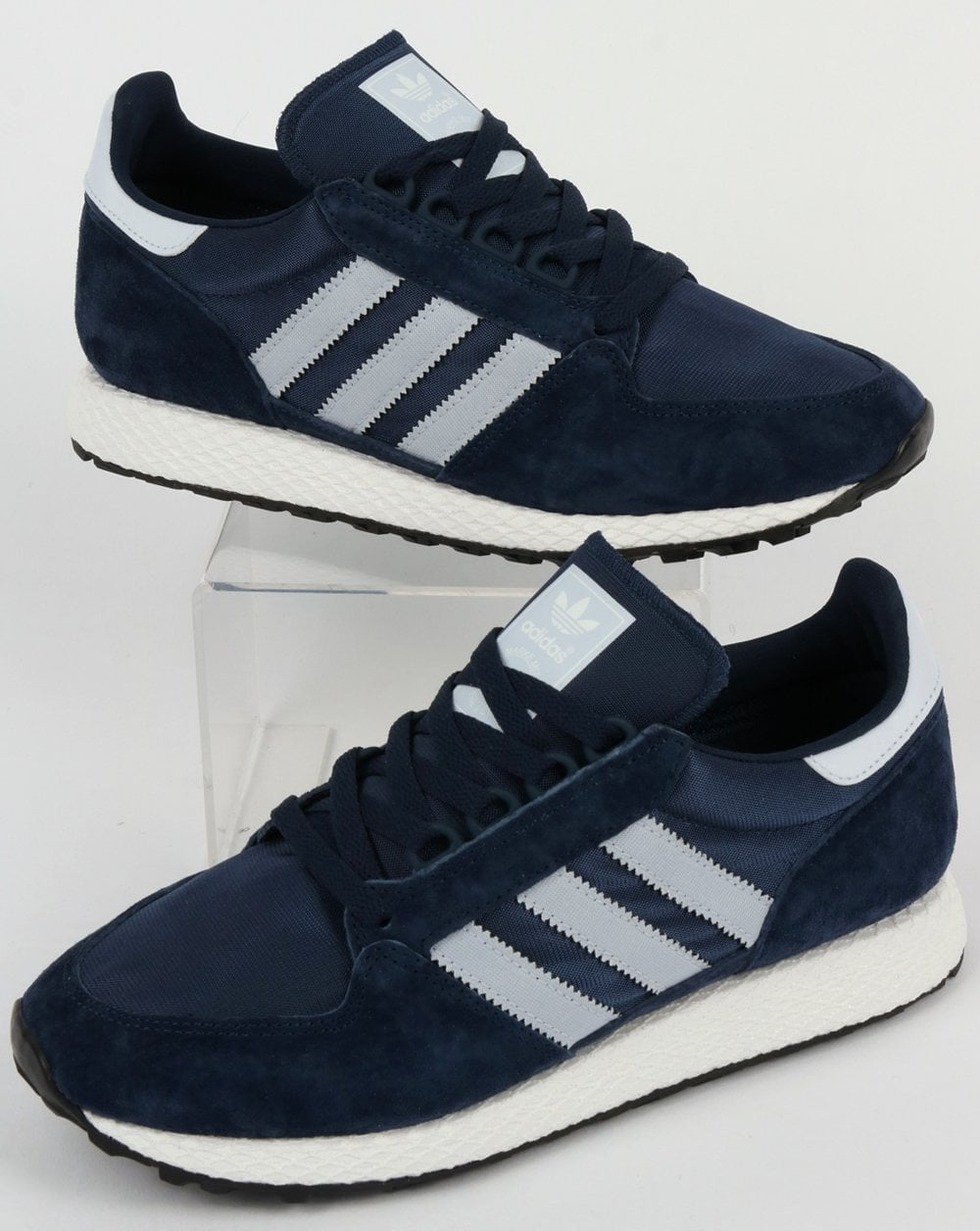db353b84121aff adidas Trainers Adidas Forest Grove Trainers Navy Clear Blue