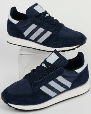adidas Trainers Adidas Forest Grove Trainers Navy/Clear Blue