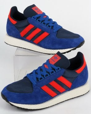 adidas Trainers Adidas Forest Grove Trainers Power Blue/Red