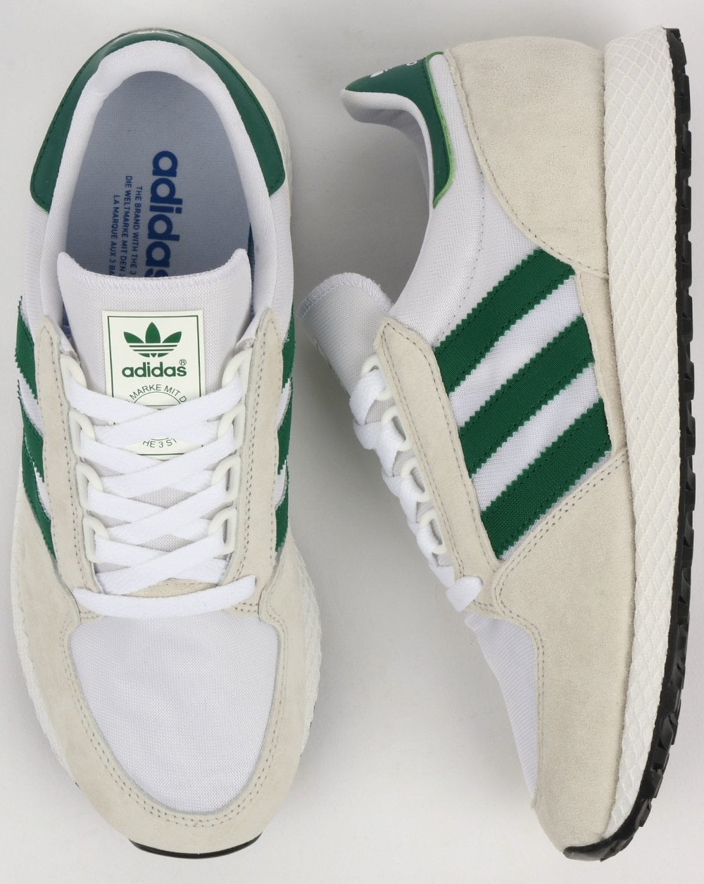 Adidas Forest Grove Trainers Pure White Green e42527782