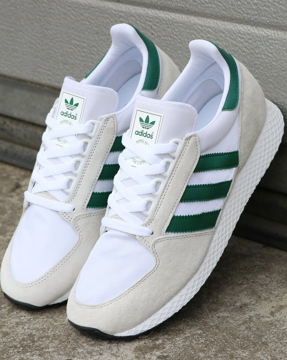 low priced 19fbf 700ff adidas Trainers Adidas Forest Grove Trainers Pure WhiteGreen