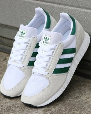 adidas Trainers Adidas Forest Grove Trainers Pure White/Green