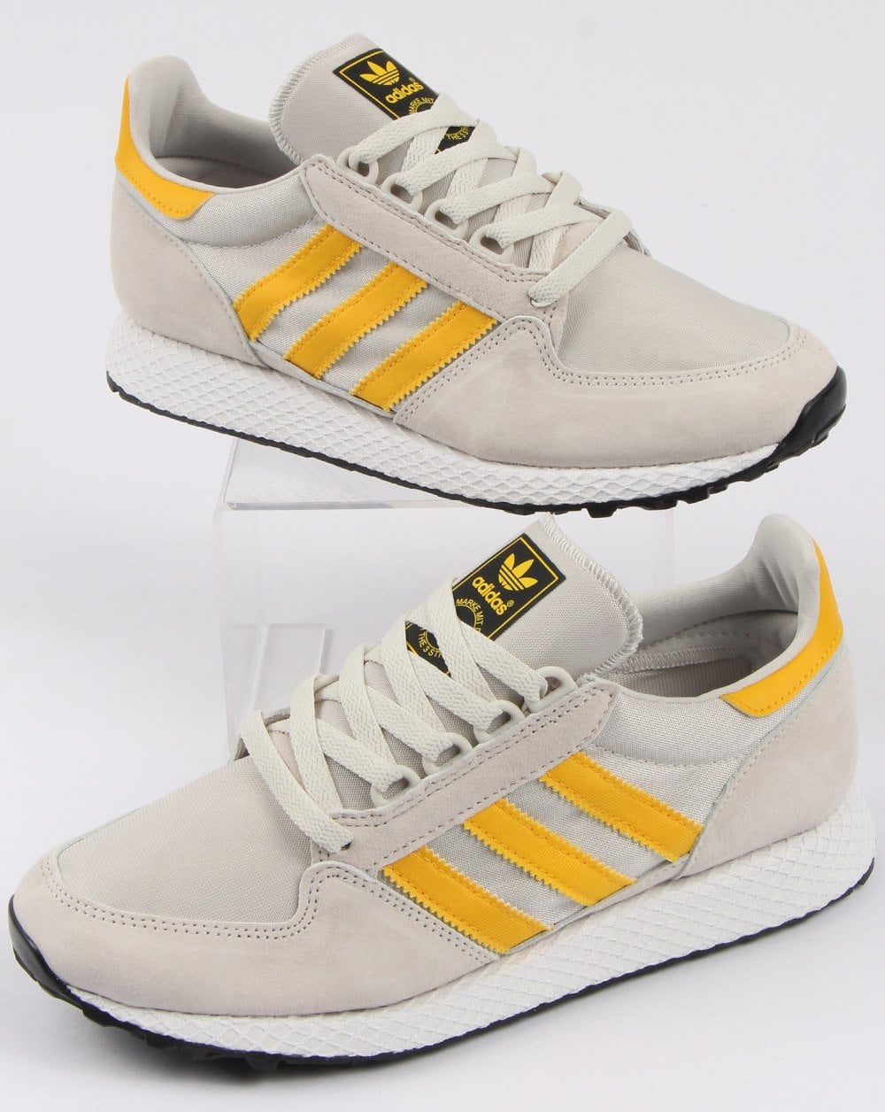 adidas white and yellow shoes