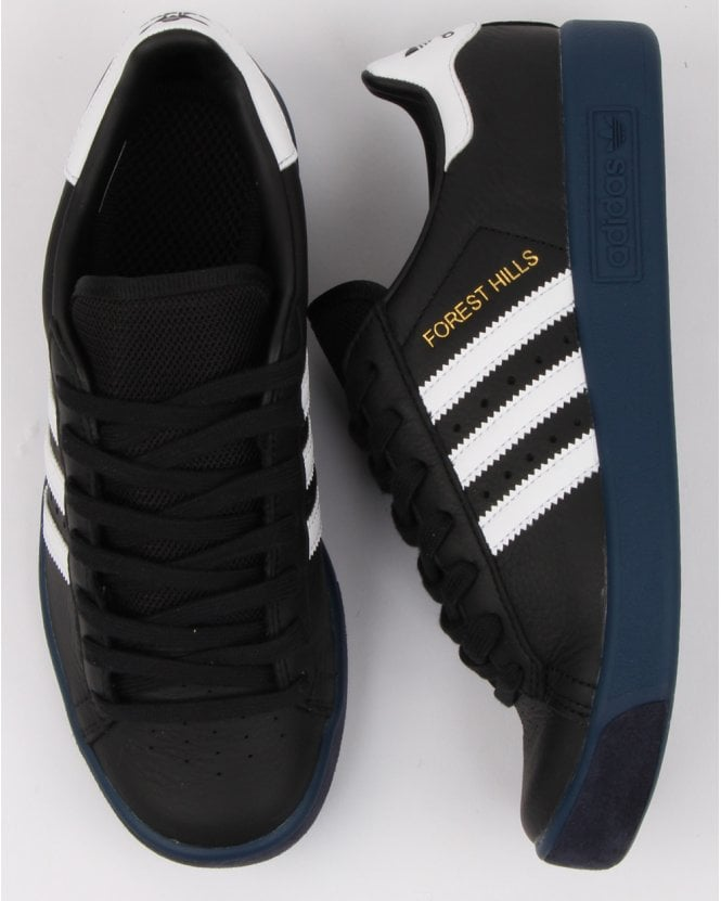 d4ecc7b9575665 adidas Trainers Adidas Forest Hills Trainers Black white