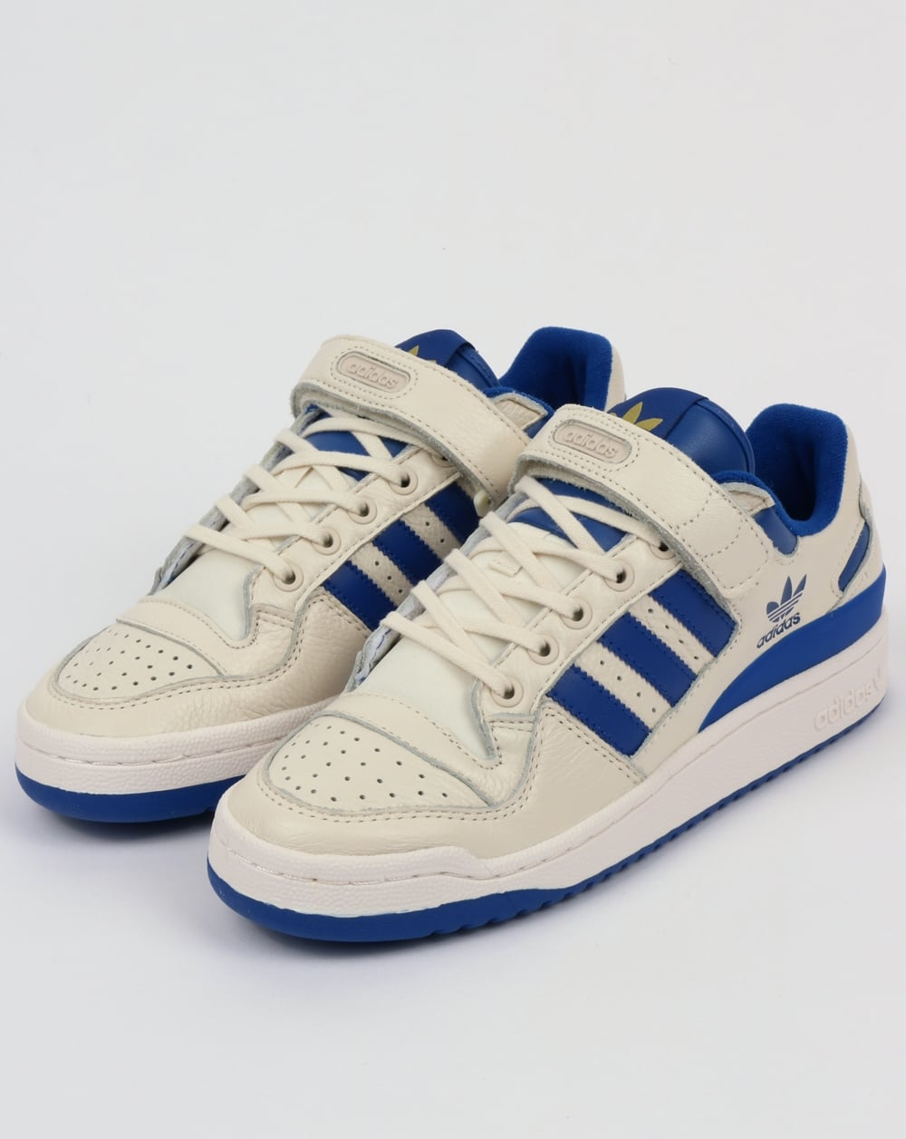 be28d3994cc8f3 Adidas Forum Lo Trainers White Royal