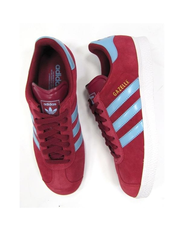 Adidas Gazelle Maroon And Blue