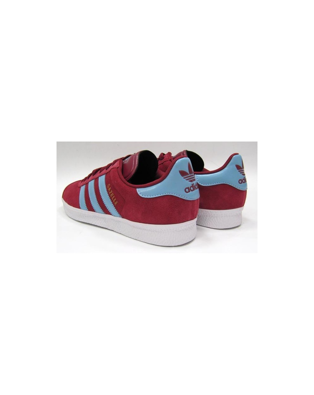 Adidas Gazelle Claret And Sky Blue