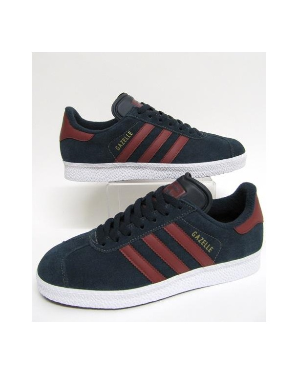 red and blue adidas gazelle