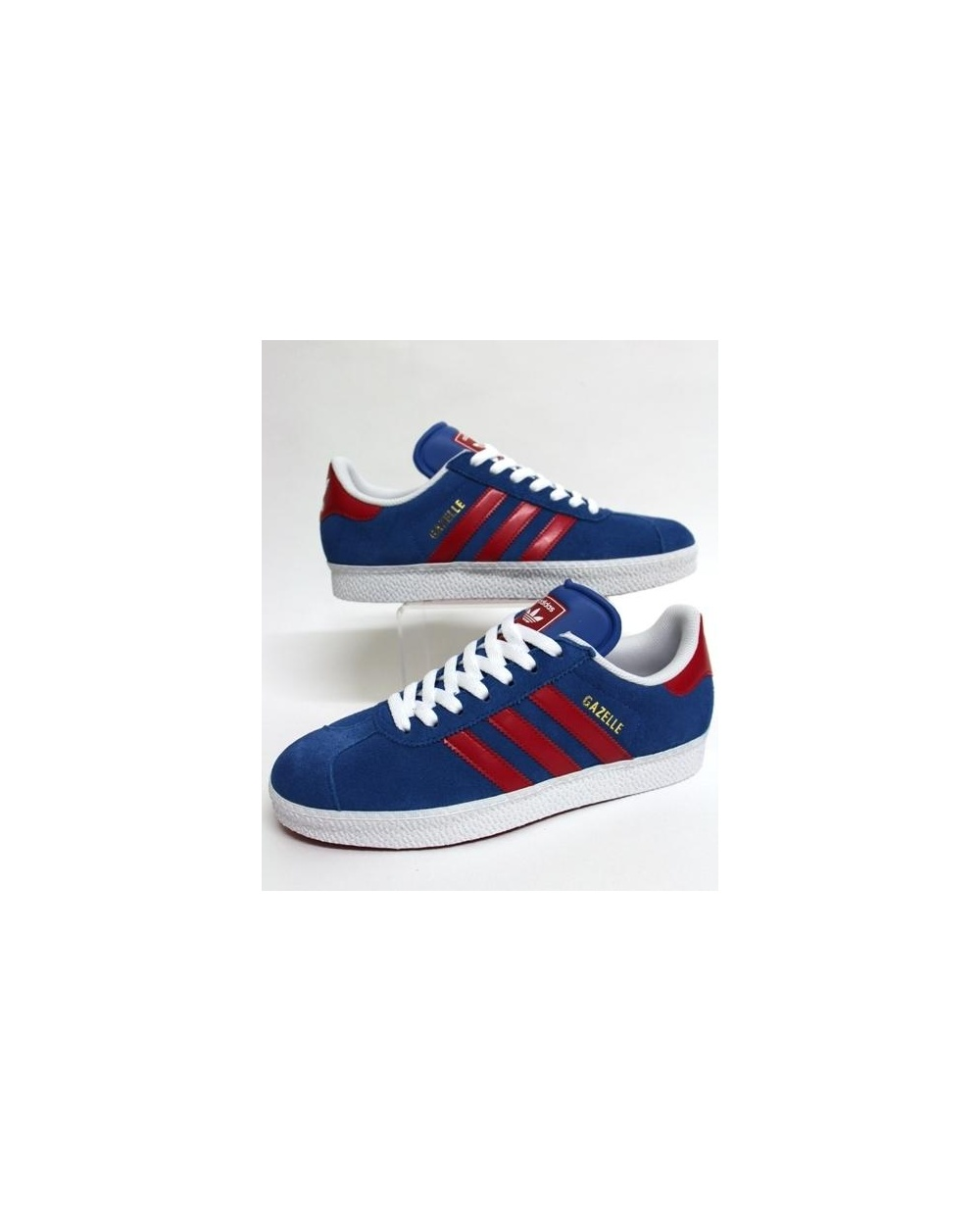 adidas gazelle blue red 7c8ce03939e5