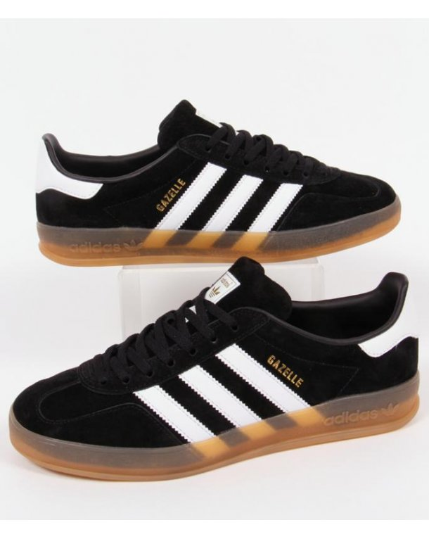 mens adidas black & white gazelle indoor trainers nz