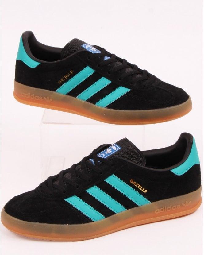 Adidas Gazelle Indoor Black & Aqua | END.