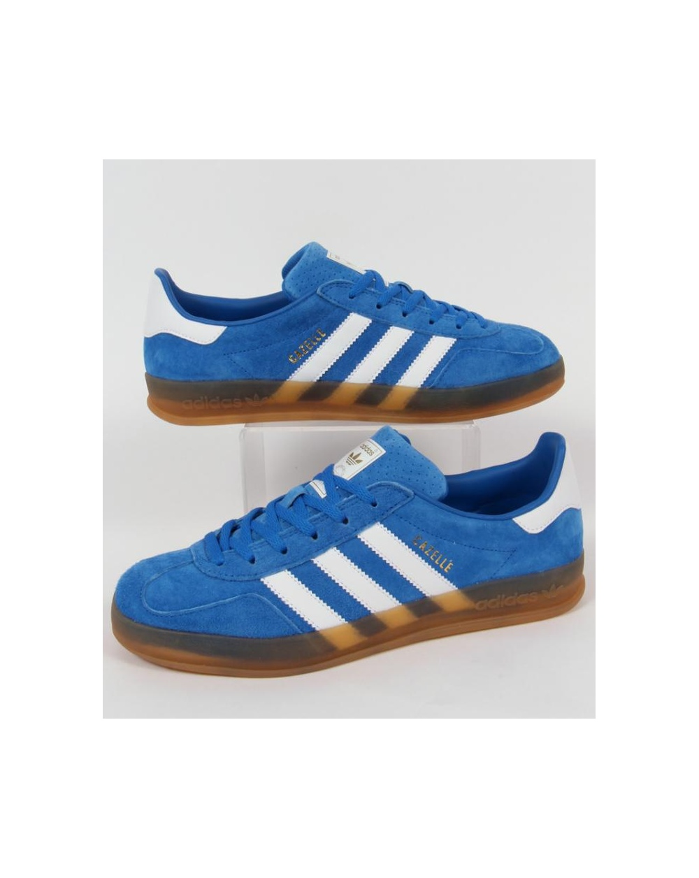 adidas Trainers Adidas Gazelle Indoor Trainers Bluebird Blue white e741effa1