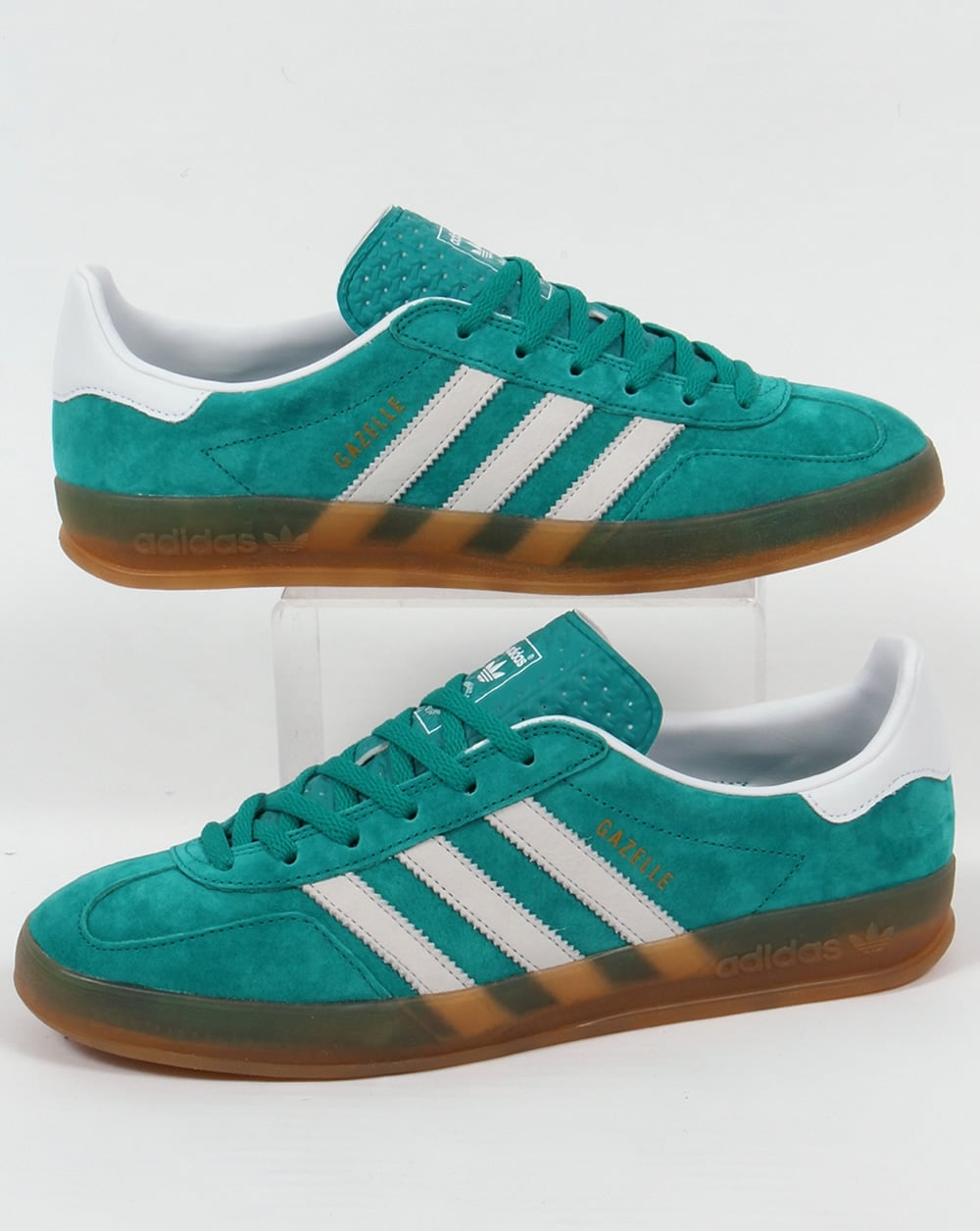 adidas gazelle white and green