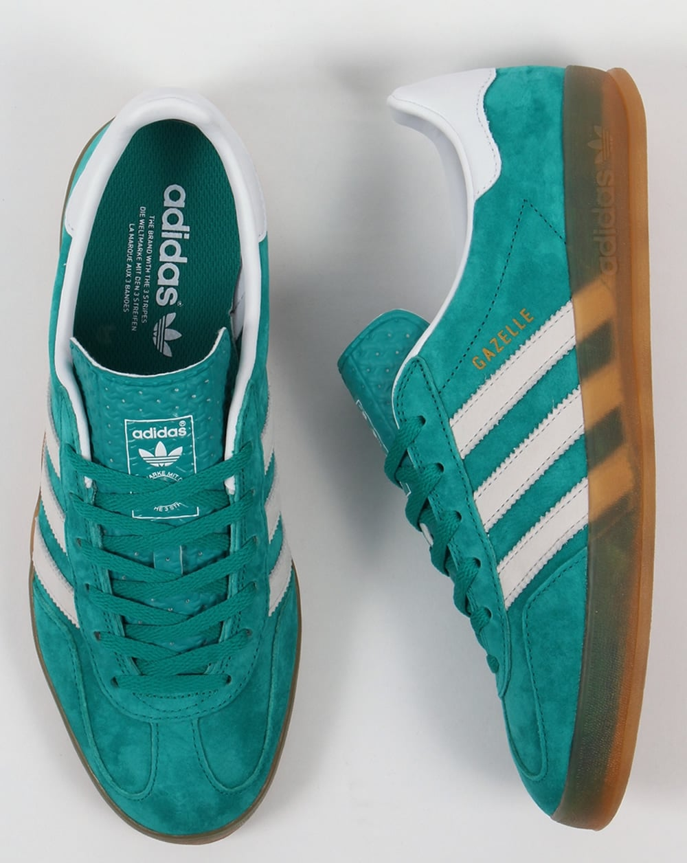 adidas gazelle green and white