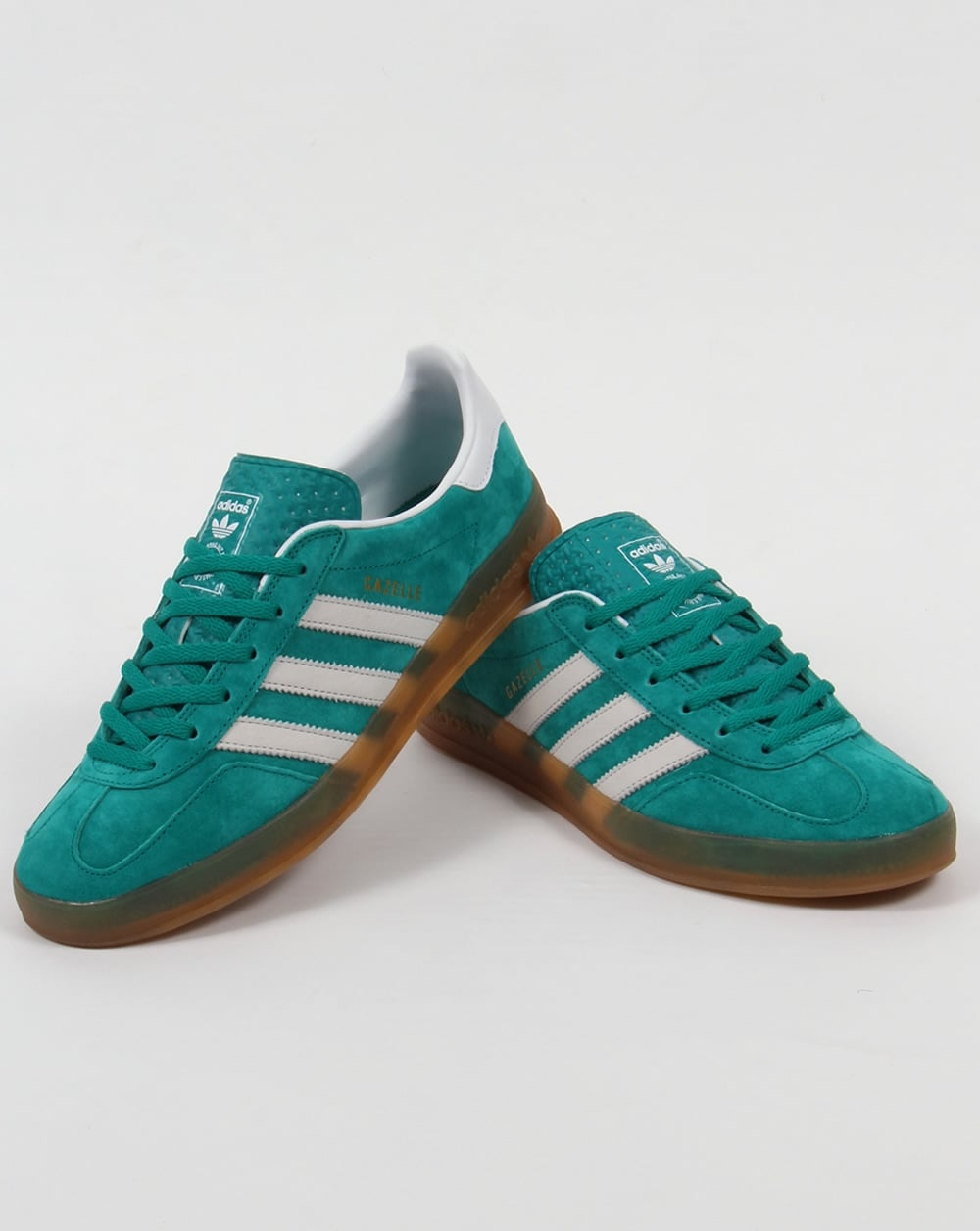 Adidas Originals Gazelle Indoor Shoes - Dark Green/Black