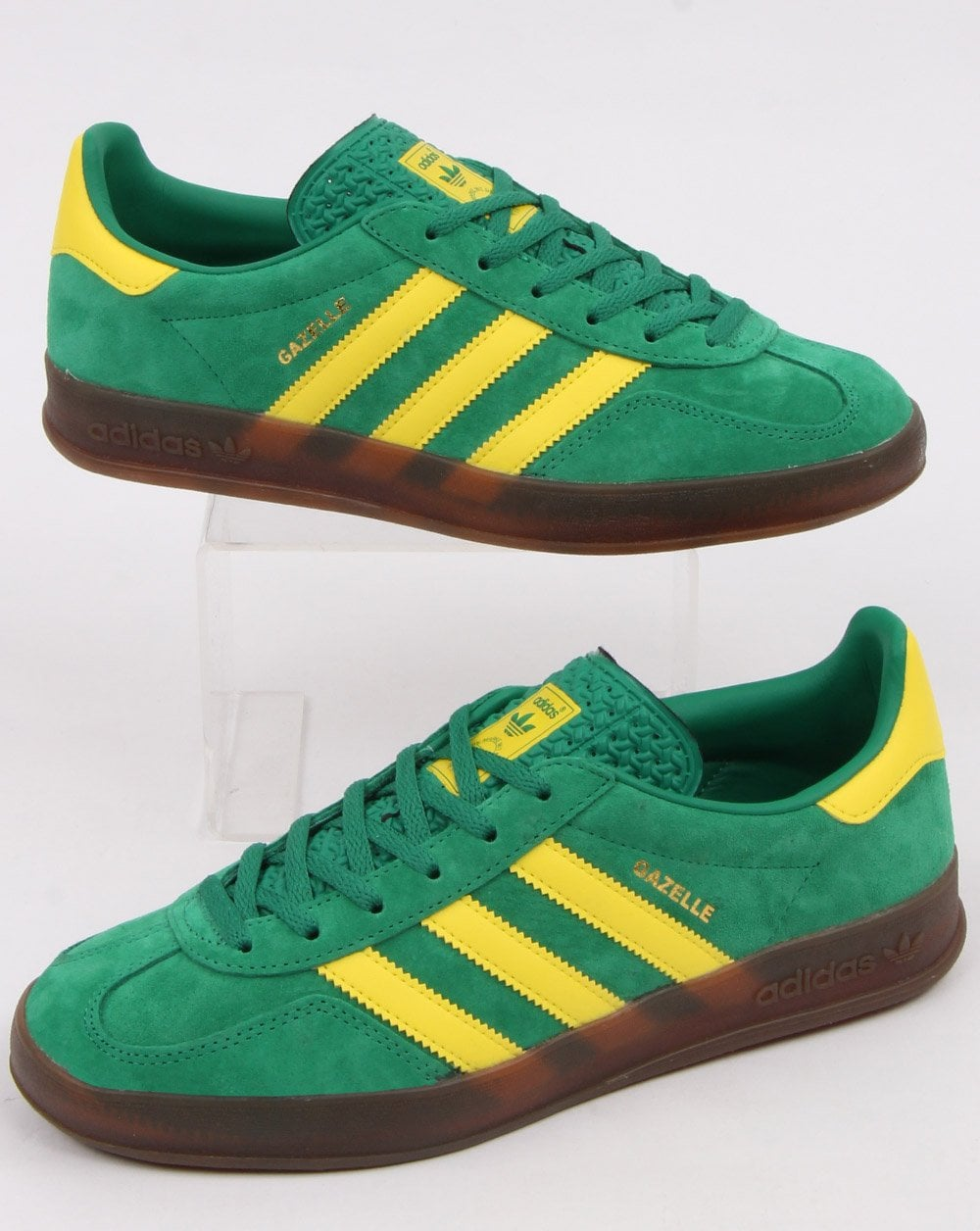 release date: save up to 80% large discount Adidas Gazelle Indoor Trainers Green/Yellow