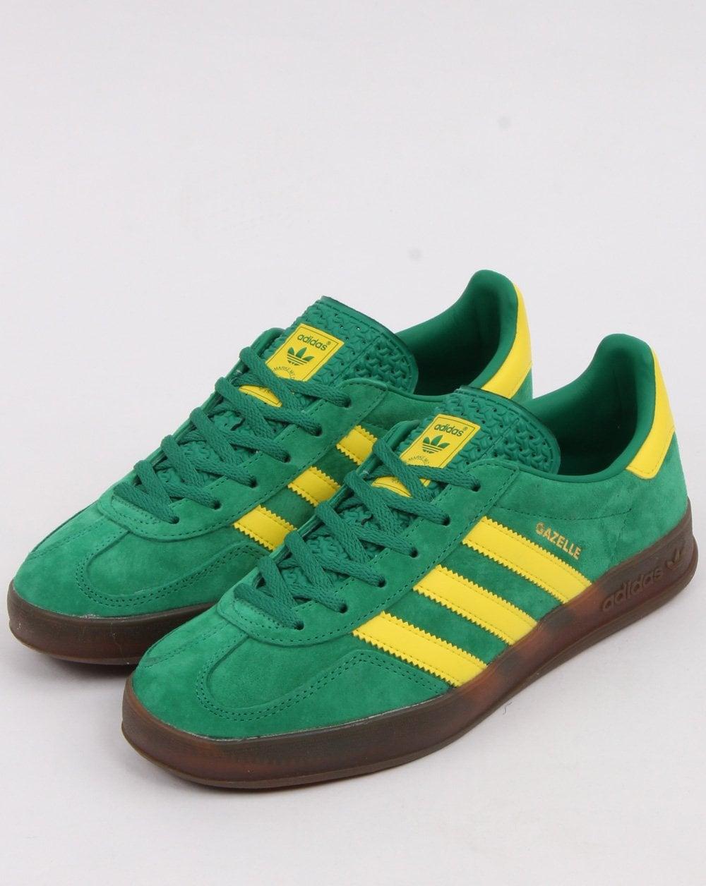 Adidas Gazelle Indoor Trainers Green/Yellow
