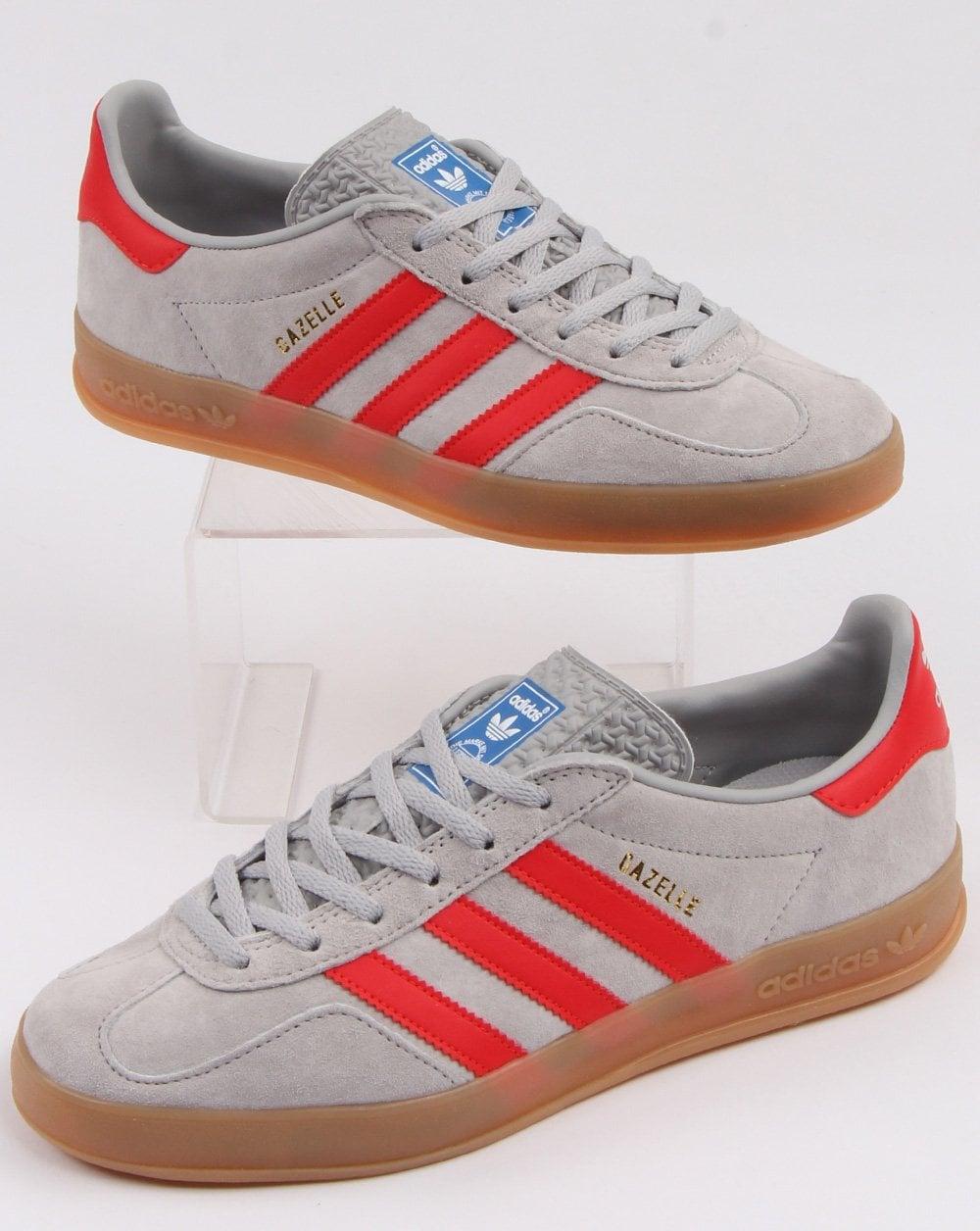 code promo 31215 abdb7 Adidas Gazelle Indoor Trainers Grey/red