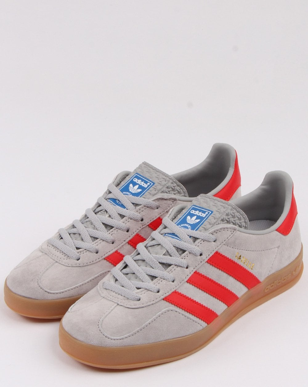 Adidas Gazelle Indoor Trainers Grey/red
