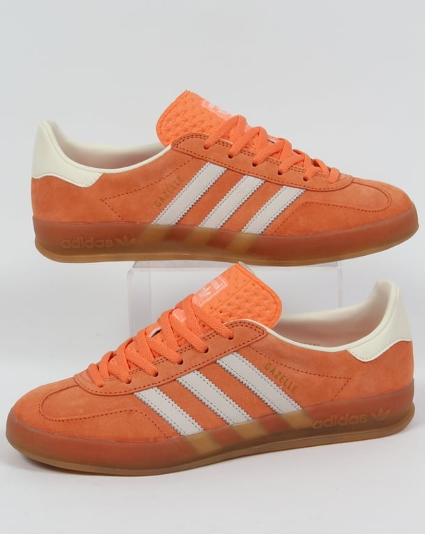 Adidas Gazelle Indoor Trainers in light orange