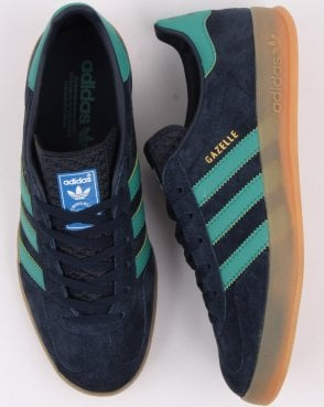 new concept 8bbfb 33d0a adidas Trainers Adidas Gazelle Indoor Trainers Navy Green