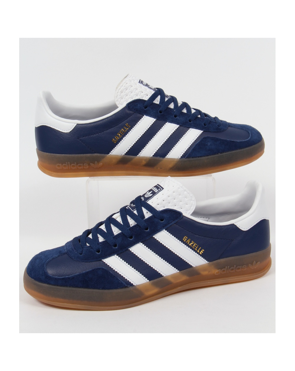 Adidas Gazelle Indoor Trainers Oxford Bluewhitegum