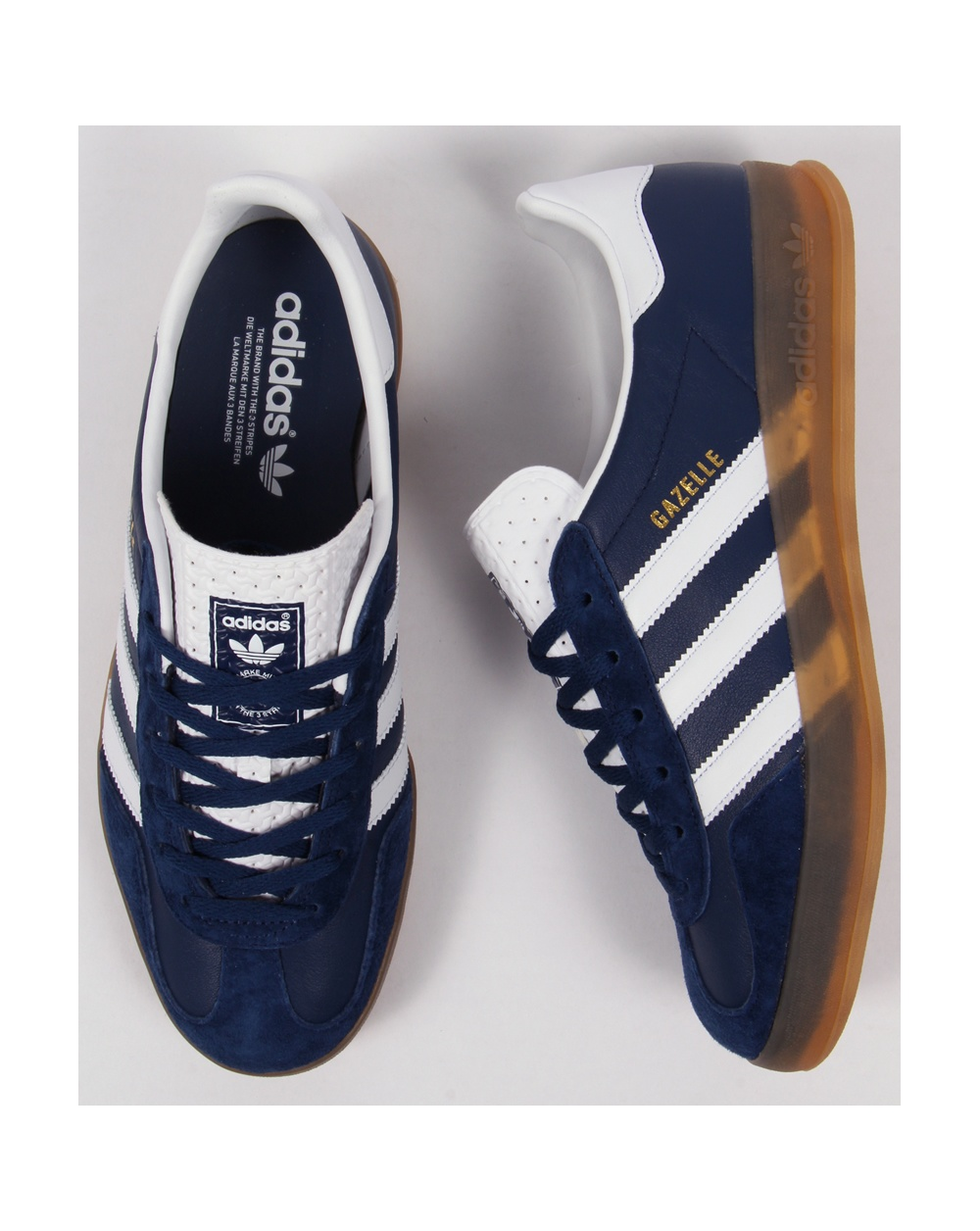Adidas Gazelle Indoor Trainers Oxford Blue/white/gum