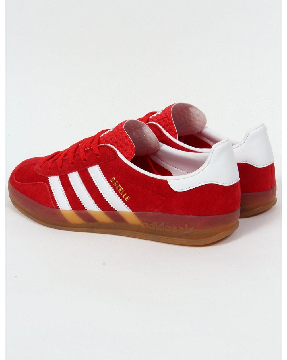 adidas indoor gazelle red