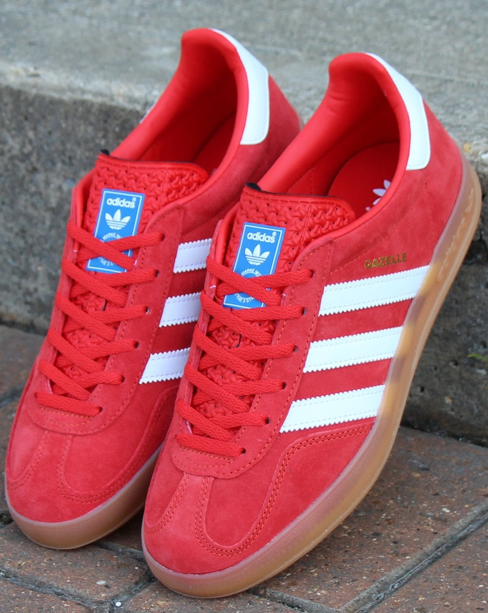 Adidas Gazelle Indoor Trainers Red/White