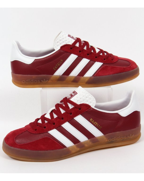 Adidas Originals Gazelle Indoor Rust Red White Gum Mens