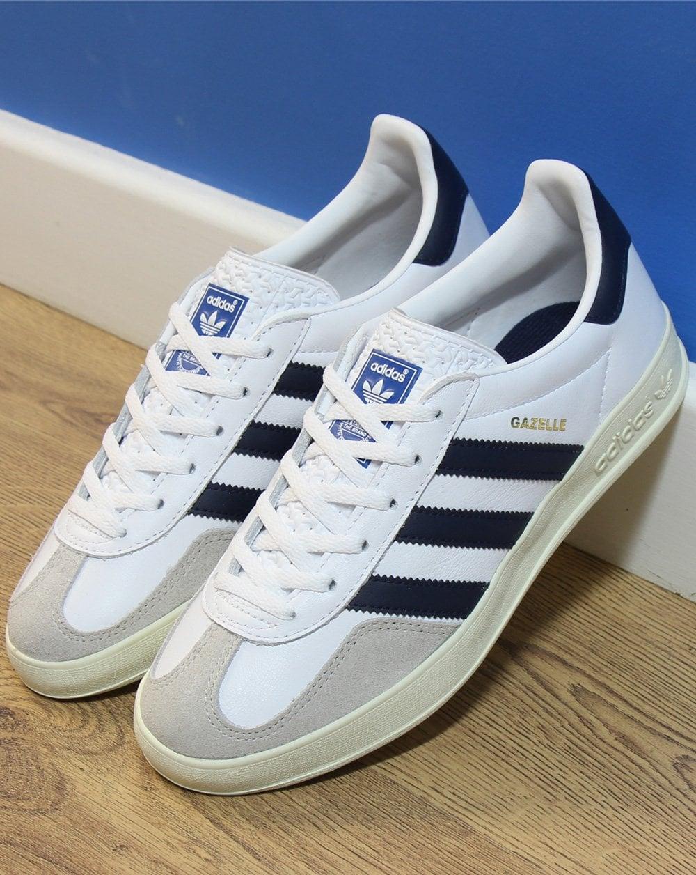 Adidas Gazelle Indoor Trainers White/Navy