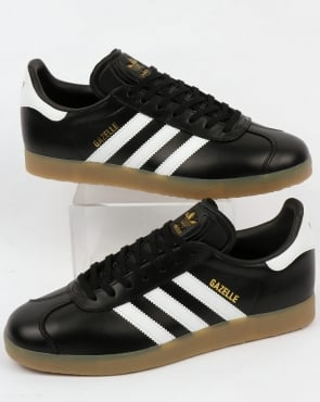 adidas Trainers Adidas Gazelle Leather Trainers Black/White Gum