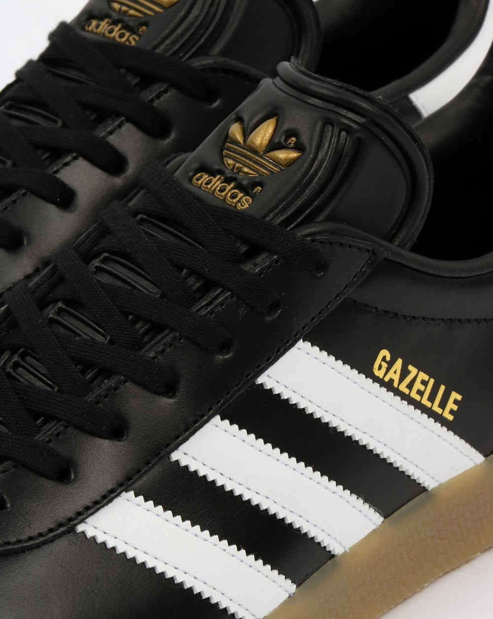 Adidas Gazelle Trainers Black/White/Gum