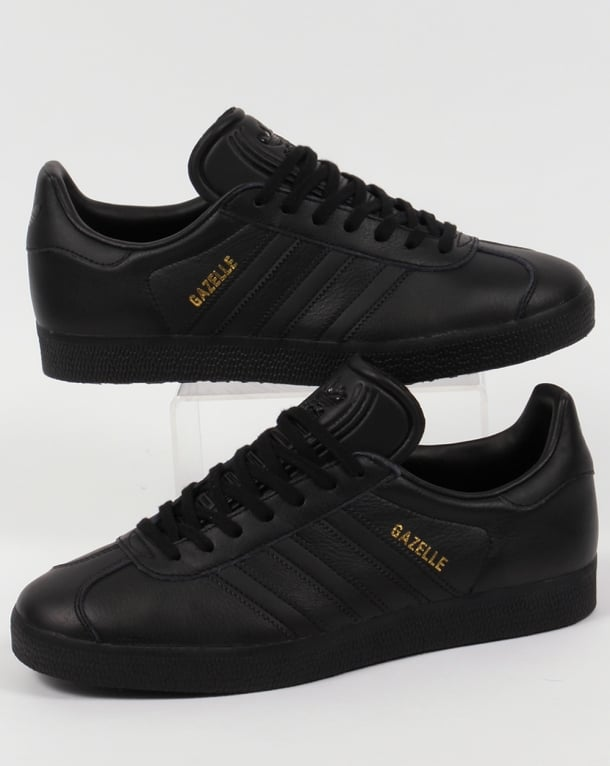 Adidas Gazelle Leather Trainers in Black