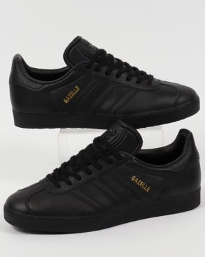 Adidas Trainers Adidas Gazelle Leather Trainers in Black